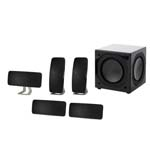 JAMO A 200 BLACK / WHITE 5pc Master Pac+SUB 800